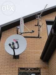 Установка спутниковых, эфирных антенн, ремонт тюнеров, тарелок.
