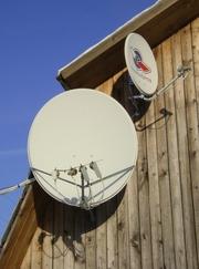 Антенны спутникового ТВ различной комплектации - установка,  настройка